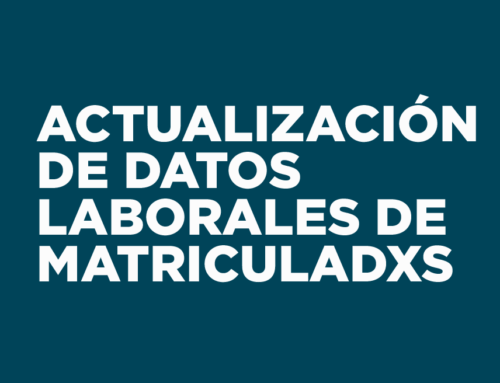 Actualización de datos laborales de Matriculadxs