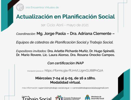 Primeros Encuentros Virtuales de actualización en Planificación Social